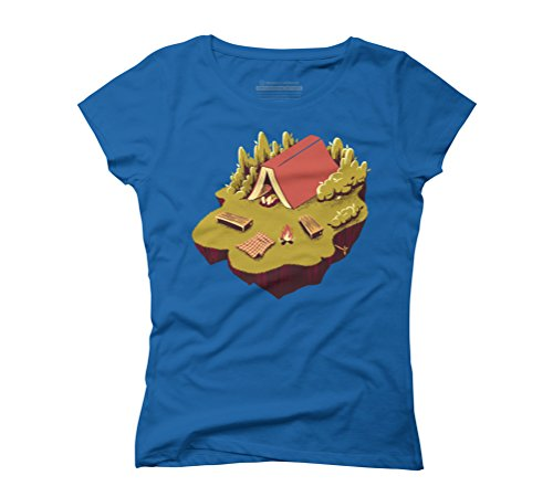 The Best Vacation Reading Book Camping Women's Graphic T-Shirt - Design By Humans Royal Blue