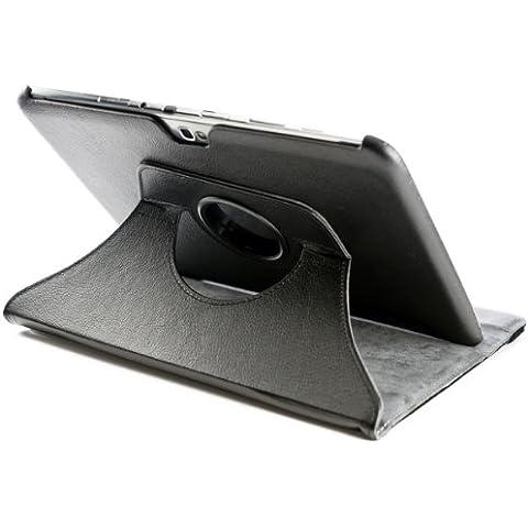 kwmobile Funda 360° para Samsung Galaxy Note 10.1 Carcasa con pie de soporte - Funda protectora para tablet bolso con función de soporte en