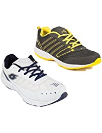 Redon Men's Pack Of 2 Sports Running Shoes (Running Shoes, Jogging Shoes, Gym Shoes, Walking Shoes) - B074HGF7CX