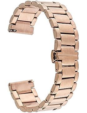 TRUMiRR 16mm Edelstahl Uhrenarmb