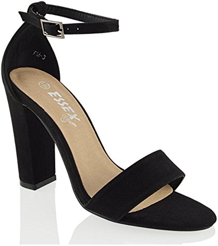 22b077e300d8 ESSEX GLAM Womens Block Heel Ankle Strap Strap Sandals Block Ladies  ciproant-11684 Peeptoe Strappy Party Shoes 3-8 B06XXZ7XX9 Parent d3fc81b