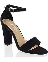 da donna alla schiava BLOCCO Sandali con tacchi donna cinturino caviglia CUT OUT