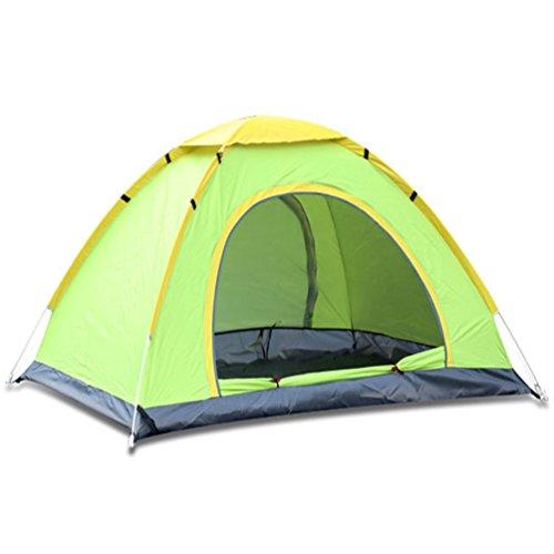 Tende da campeggio automatiche all'aperto, doppie persone, tende portatili a doppia porta, tende da campeggio a 3-4 persone a lancio manuale (verde200x200x130cm)