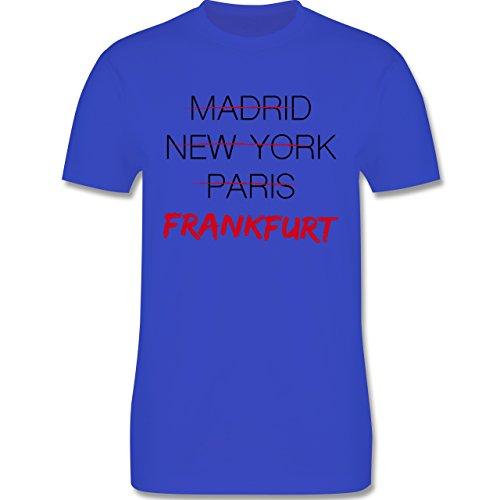 Städte - Weltstadt Frankfurt - Herren Premium T-Shirt Royalblau