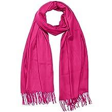 Rundschal Damen Loop Schal pink uni einfarbig Geschenk Handarbeit neu