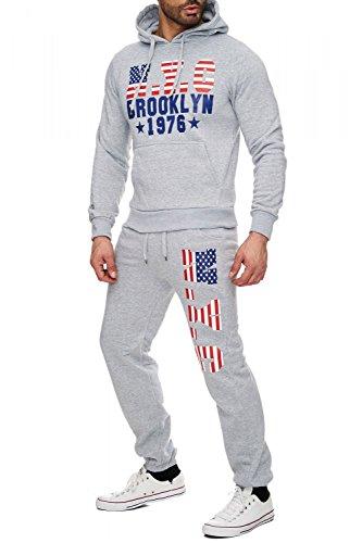 Soft Touch Uomo fare jogging Brooklyn H1724 Hellgrau