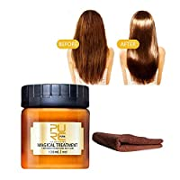 bingT Magical Hair Mask,Hair Repairing Deep Conditioner Treatment for Dry and Damaged Hair,Recover Elasticity Hair Hair, Advanced Molecular Hair Roots Treatmen,Detoxifying Hair Mask (120ML+Towel)