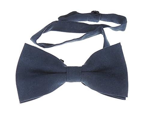 Mens Luxury Suede Look Evening Black Tie Bow Tie