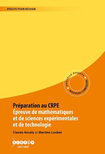 Préparation au CRPE. Epreuve de Mathématiques, sciences expérimentales