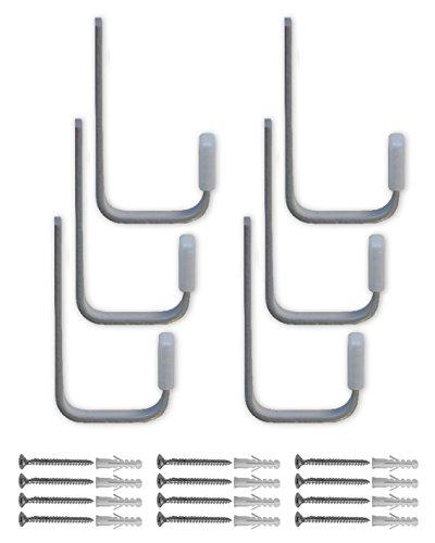 Element System HOOK Biertisch-Haken-Set für Bier-Tisch und -Bank, 85 x 40 mm, 1 Stück, weißaluminium, 18133-00384