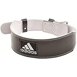Adidas Gewichthebergürtel Leder Unisex Gewichthebergürtel, Schwarz/Weiß, L/XL