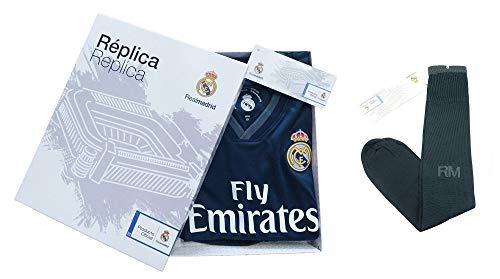Conjunto Complet Infantil Real Madrid Réplica Oficial Licenciado de la Segunda  Equipación Temporada 2018-19 5ec77073be435