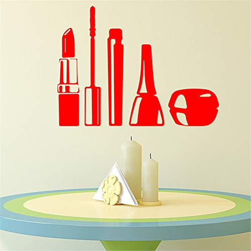 Mode Kosmetik (Mode Kosmetik Wandaufkleber Wandaufkleber Kunst Decor für Wohnzimmer Schlafzimmer Dekoration Zubehör Vinyl Wandkunst Aufkleber 2 58 * 74 cm)