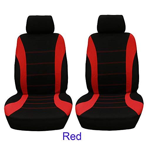 Aoile 4 teile/satz Autositzbezug Schutz Sitz Komfortabel Staubdicht Kopfstütze Vordersitzbezüge Rot schwarz