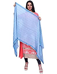 Anoma Semi Cotton Sky Blue Colour Dupatta For Womens & Girls