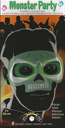Maro Toys Monster Party Totenkopf Maske Glow Stick