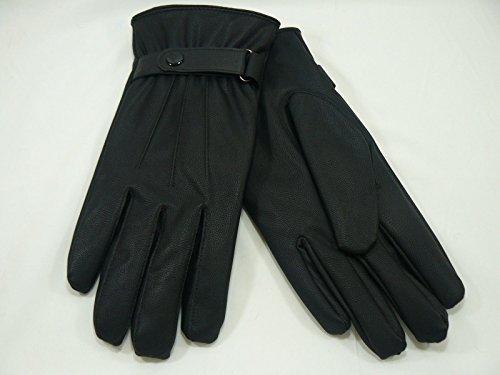 Medium Gurt (NEU Damen 1Taste Gurt Leder Handschuhe Medium/Large fahren Winter Thermo)