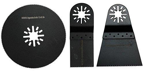 Agrartechnik-Graf Holz, Plastik Segmentsägeblätter 34mm, 68mm und 80mm Halbrund 3er Set für Bosch GOP