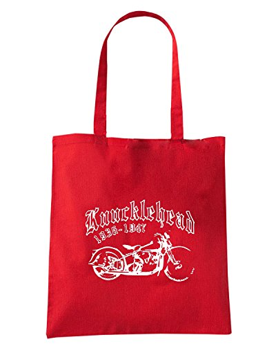 T-Shirtshock - Borsa Shopping OLDENG00766 knucklehead Rosso
