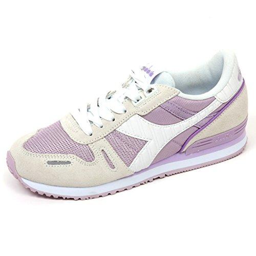 C9016 sneaker donna DIADORA TITAN II W scarpa avorio/lilla shoe woman avorio/lilla