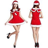 SDLRYF Disfraz De Papá Noel Traje De Navidad Falda Femenina Adulta Fiesta De Navidad Santa Claus Traje Etapa Reunión Anual