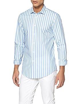 La Redoute Collections Uomo Camicia Slim A Righe 100 Cotone