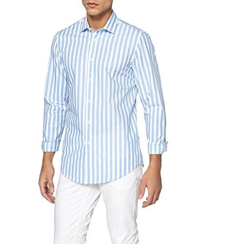La redoute collections uomo camicia slim a righe 100 cotone taglia 4748 ecru