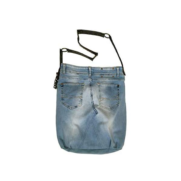 Casual Denim Jeans Handmade Bag, Hobo Shoulder Bag, Recycled Jeans Denim Bag, Restyled Sport Woman Everyday Cool Denim Bag, Crossbody Bag - handmade-bags