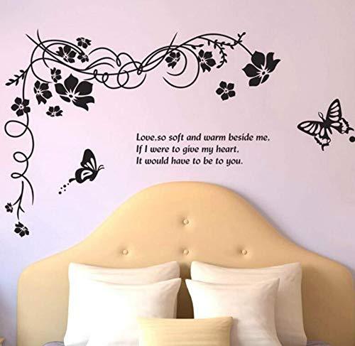 3D Aufkleberkreative Dekorative Schlafzimmer Wohnzimmer Sofa Tv Hintergrund Blume Schmetterling Mode Reben Wandaufkleber Selbstklebende Malerei Entfernbare 120 * 70 Cm -