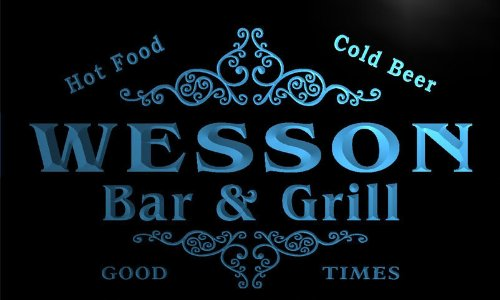 u48073-b-wesson-family-name-bar-grill-home-decor-neon-light-sign-enseigne-lumineuse