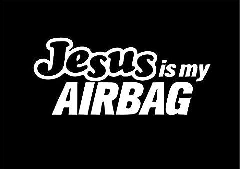Jesus is my airbag Funny autocollant de voiture Motif van fenêtre pare-chocs en vinyle