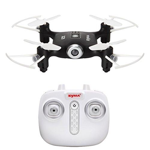 Juguetes De Control Remoto Syma X21 RC Quadcopter Drone UFO Mini Nano Con Aviones No Tripulados Con El Modo Sin Cabeza Un Botón De Despegue / Aterrizaje Función De Mantenimiento De Altitud De 2,4 GHz 6-Axis Gyro Negro Quadcopter (negro)