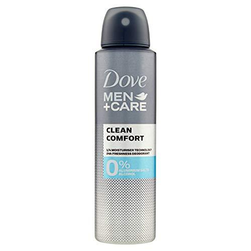 Dove Desodorante 0% Men Clean Comfort - 3 Paquetes de 150 ml: Total: 450 ml