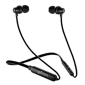 PTron Tangent Lite Wireless Bluetooth In-Ear Neckband Headphone With Mic (Black)