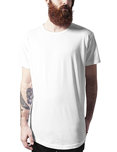 Urban Classics Peached Shaped Long Tee-T-shirt  Uomo    Weiß (offwhite 555) Large