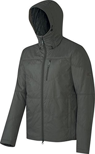 Mammut Runbold IN Hooded Jacket Men (Down Jackets/Vests), color:titanium melange;size:L