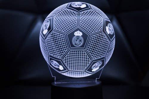 3D LAMPARAS Oficial Balon del Real Madrid Lámpara 2019-2020 Pelota para Bebe niño Kids Hombre Mujer...