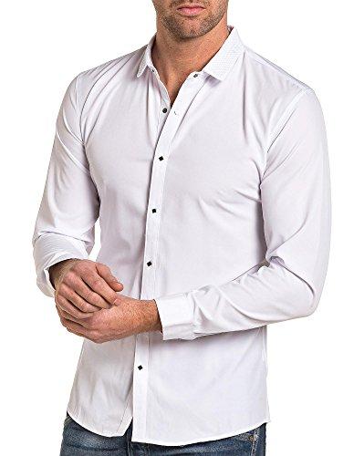 BLZ jeans - Stilvolle Hemdkragen Flüssigkeit weißer Mann Weiß