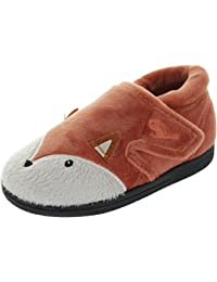 Chipmunks Boys' Mr. Fox Hi-Top Slippers