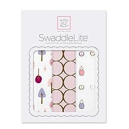 SwaddleDesigns Pucktücher aus Premium Baumwollmarquisette, 3er Set, Niedlich und Ruhig, Pastellrosa