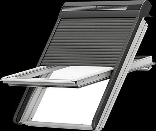 Velux Aussenrolllade Integra Solar für MK 08, dunkelgrau, Originalware, deutscher Vertrieb