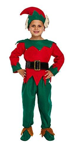 Kleinkinder Santa, Engel, Elf, Esel & Santa 's Little Helper Kostüm Jungen Mädchen Kleinkind Kind Weihnachten Santa Weihnachts-Outfit von Lizzy® (Santa ' S Helper Outfit)