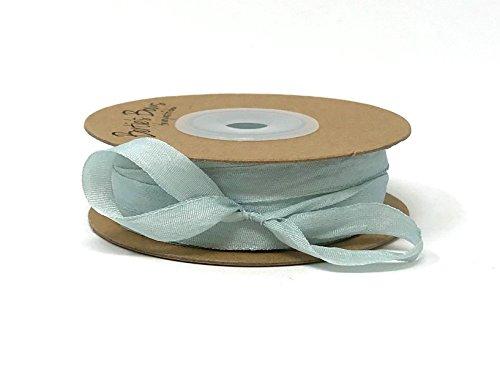 Berties 'Bögen Hellblau 7mm 100% natürlichen Seidenband auf Einer 3m Länge (Bitte Beachten Sie: Dies ist Ein aus Einer Rolle Geschnitten, auf Ein Band Karte) (7 Mm Seidenband)