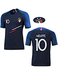 T-Shirt de Sport Garçon Champion France 2 étoiles 2018 Maillot de Foot