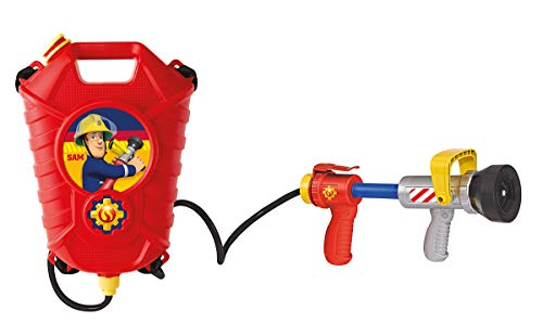 feuerwehrmann sam tankrucksack Simba 109252293 Feuerwehrmann Sam Feuerwehr Tankrucksack, Mehrfarbig, One Size