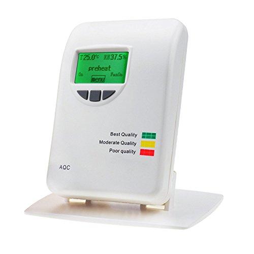 Innenluftqualität VOC Monitor Meter Detektor Tester Anzeige Analysator 0~50ppm Messbereich Luft Verunreinigungen Umwelt, Temperatur und Luftfeuchtigkeit Display für indoor Haus Büros Schlafzimmer. -