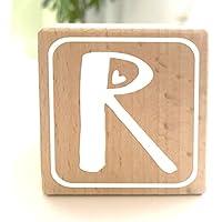 Holzwürfel mit Buchstabe R