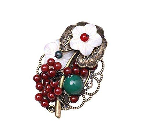 Mode Bekleidung Accessoires Retro Shell Blumen Broschen Pins