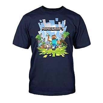 Minecraft - Adventure Garçon T-Shirt - Blue - Taille 8/128