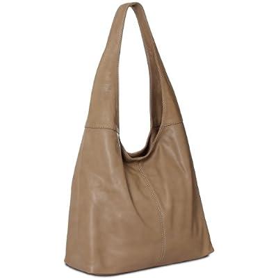 CASPAR Sac à main pour femme / porté à l'épaule / Shopping / en vrai CUIR GRAINÉ souple - plusieurs coloris - TL610